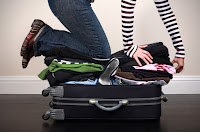 Clothing in hand luggage