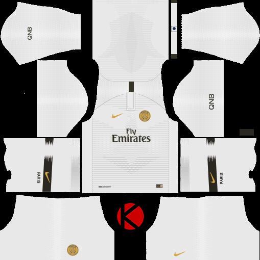 a0888a1e0c6 Paris Saint-Germain (PSG) 2018/19 Kit - Dream League Soccer Kits ...