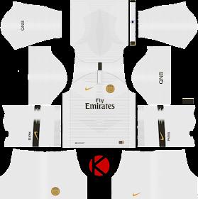 Paris Saint-Germain (PSG) 2018/19 Kit - Dream League Soccer Kits