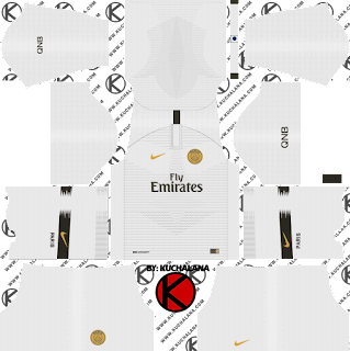 Paris Saint-Germain (PSG) 2018/19 Kit - Dream League Soccer Kits