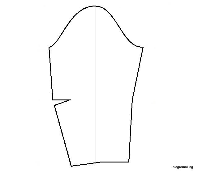 f296db640827712 Выкройка рукава реглан: моделирование базовой выкройки платья ...