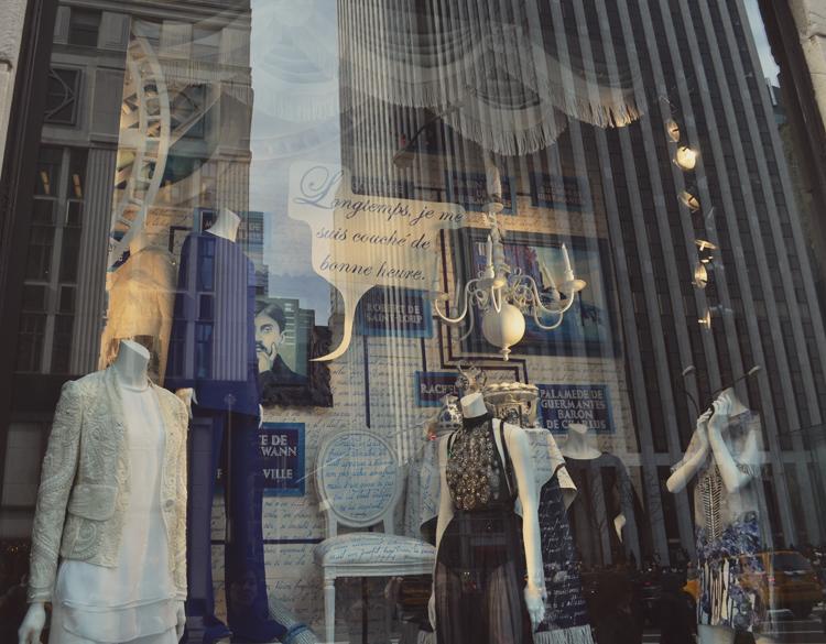 Marcel Proust Bergdorf Goodman Window Display