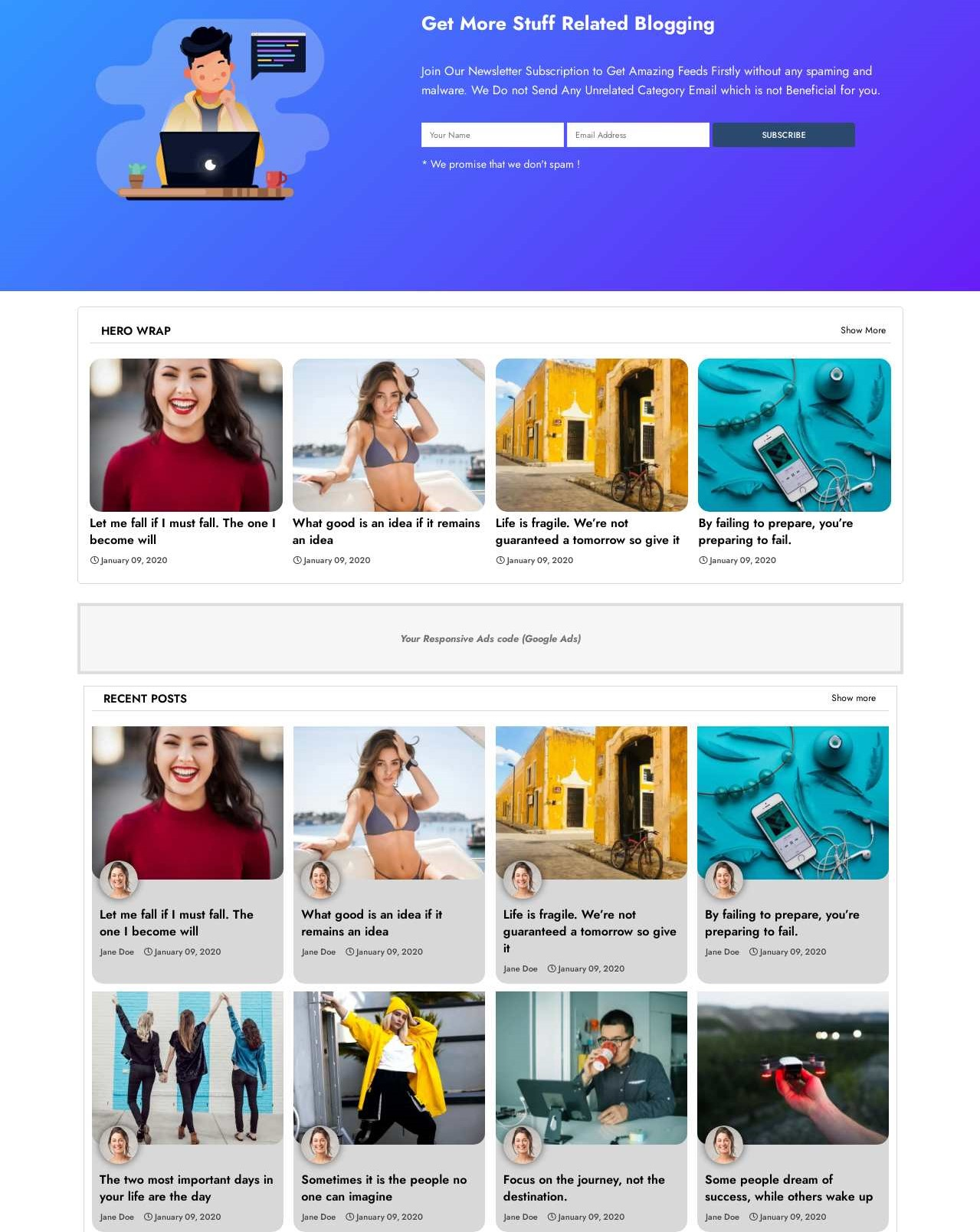Dope  Creative And Responsive Blogger Template