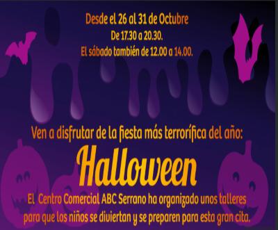 Halloween para niños en el centro comercial ABC Serrano