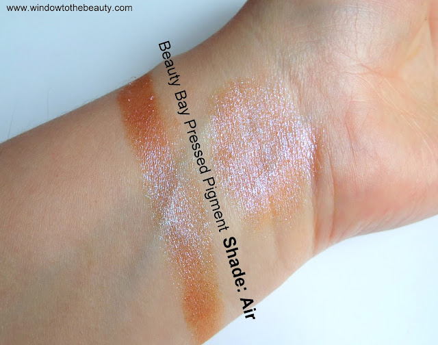 Beauty Bay Pressed Pigment Youtopia Collection Air swatches