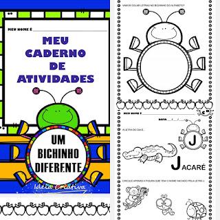 Atividades alfabetização para imprimir