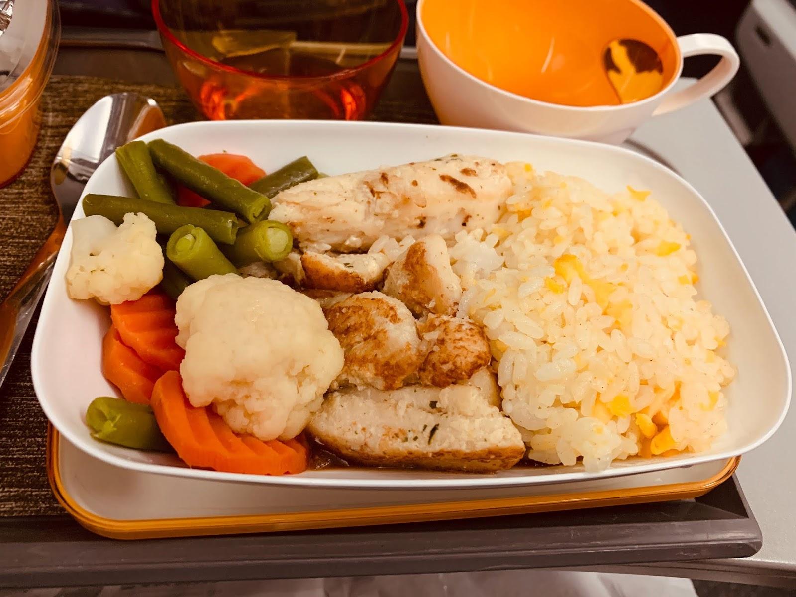 長榮航空-飛機餐(海鮮餐)