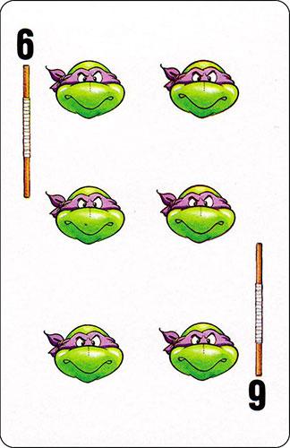 Baraja infantil Las Tortugas Ninja Fournier Carta Donatello 6