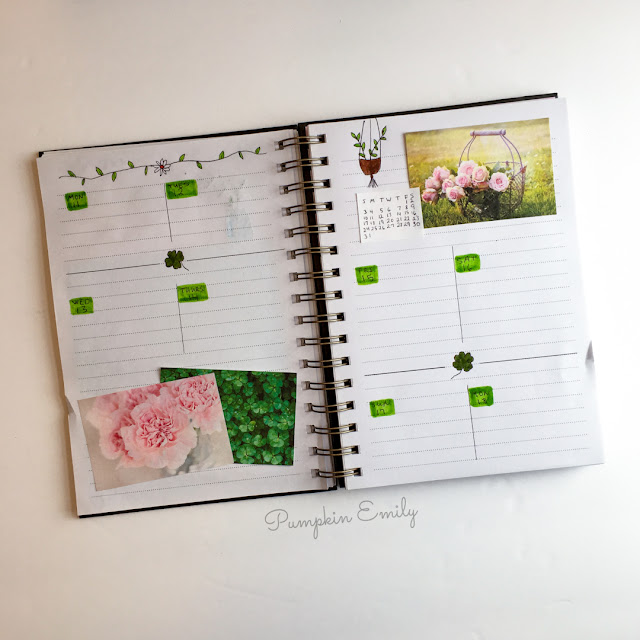 March 2019 Weekly Spread Bullet Journal Setup
