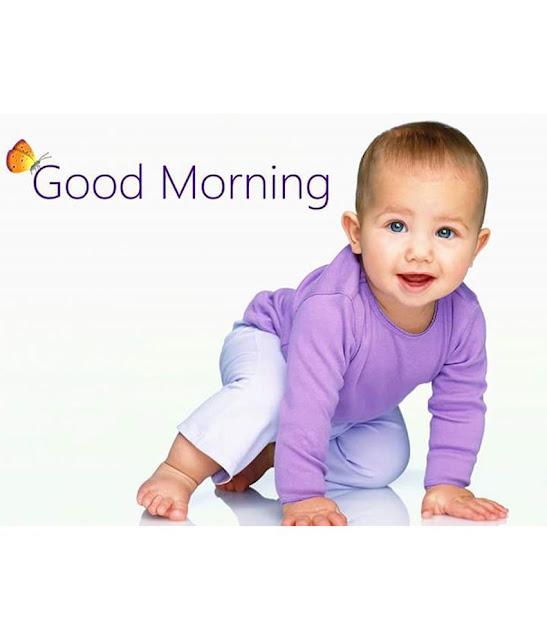baby saying good morning