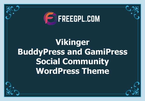 Vikinger - BuddyPress and GamiPress Social Community Theme Free Download