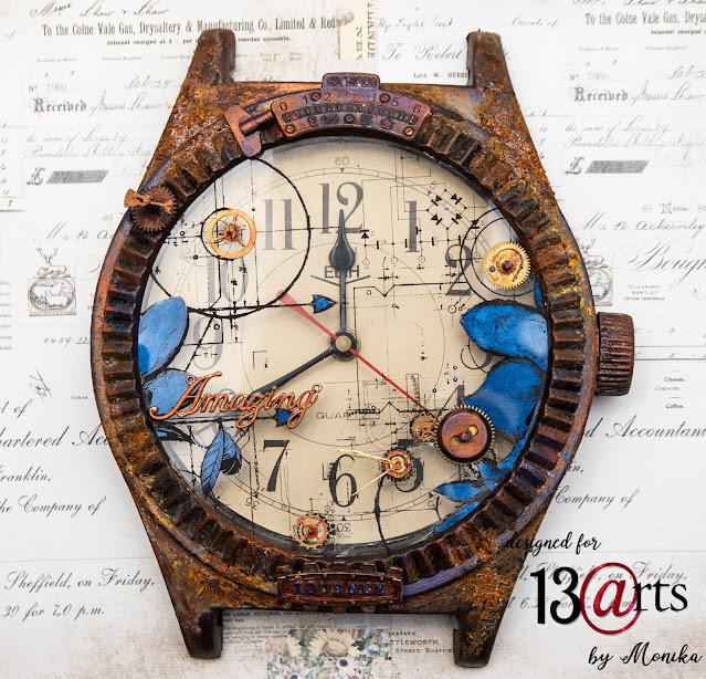 Styczniowe wyzwanie w 13arts - Zegar pokryty rdzą