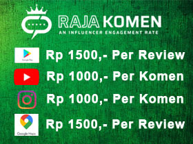 RajaKomen, Aplikasi yang Membayar 1000 hingga 1500 Untuk Setiap Komentar di Instagram, Youtube, Google Maps, dan Playstore