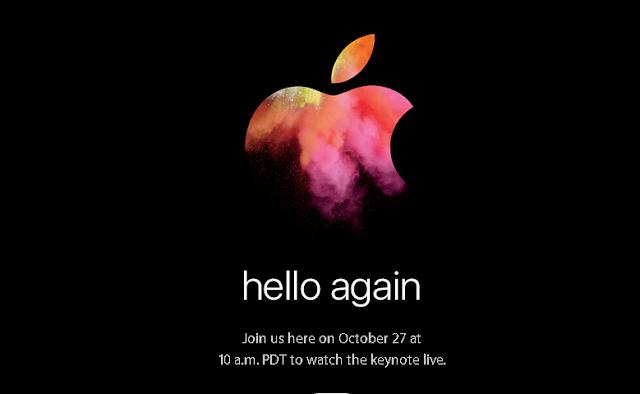 Apple confirmo que su próximo evento sera el 27 de octubre