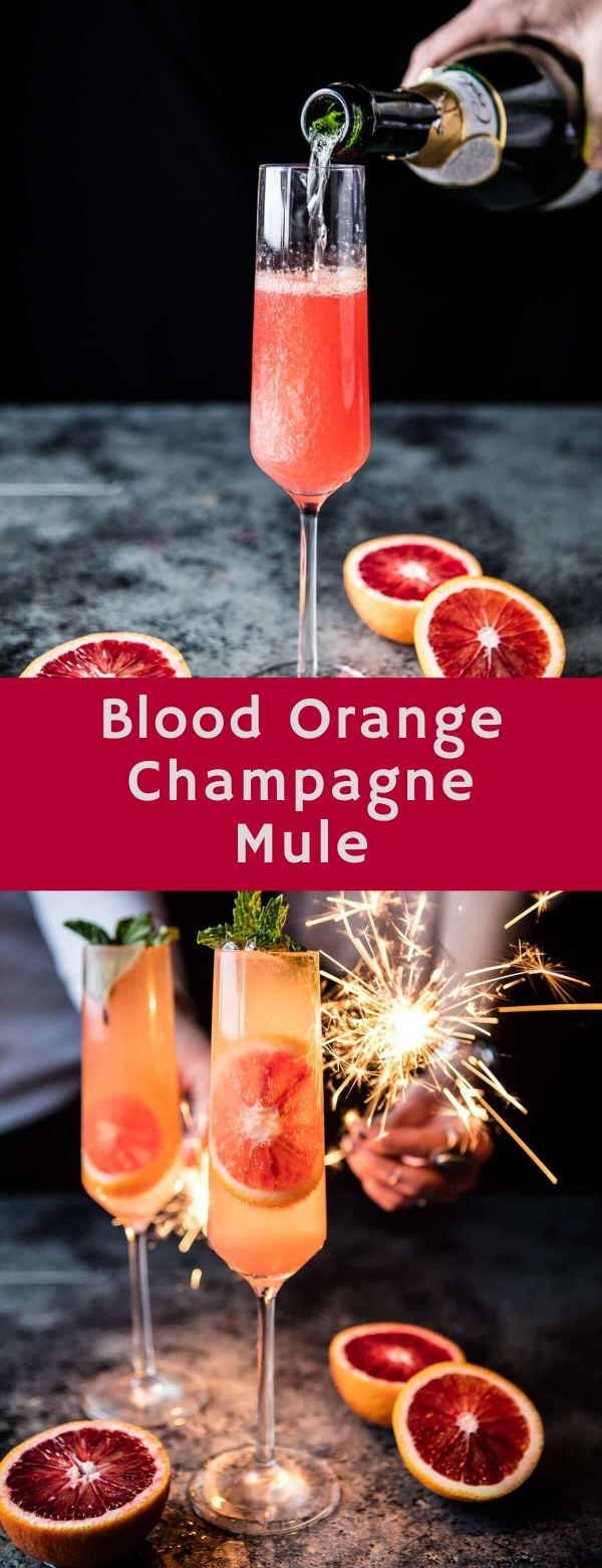 Blood Orange Champagne Mule #happynewyear #nye