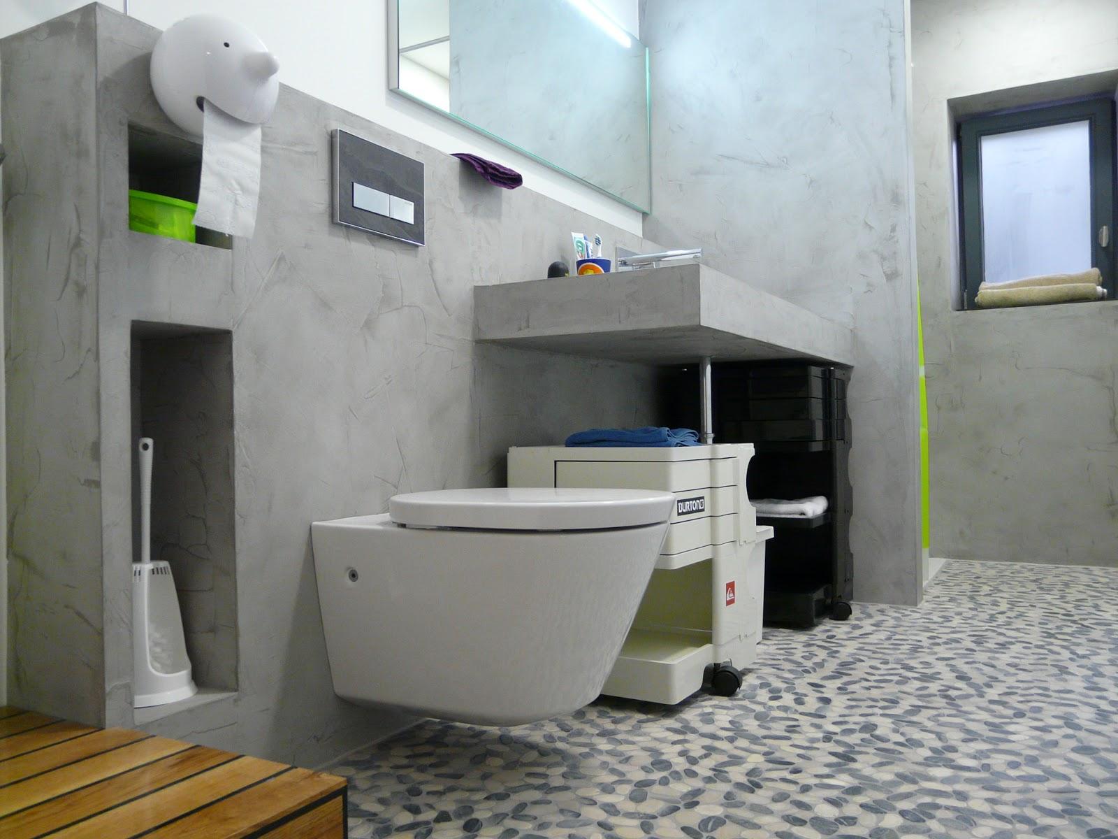 Badezimmer Beton Cire  Wohndesign
