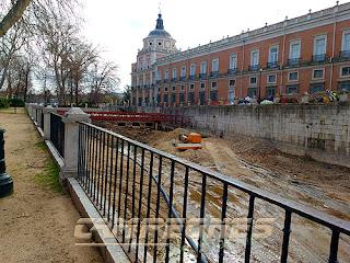 Río Tajo Aranjuez Obras Palacio