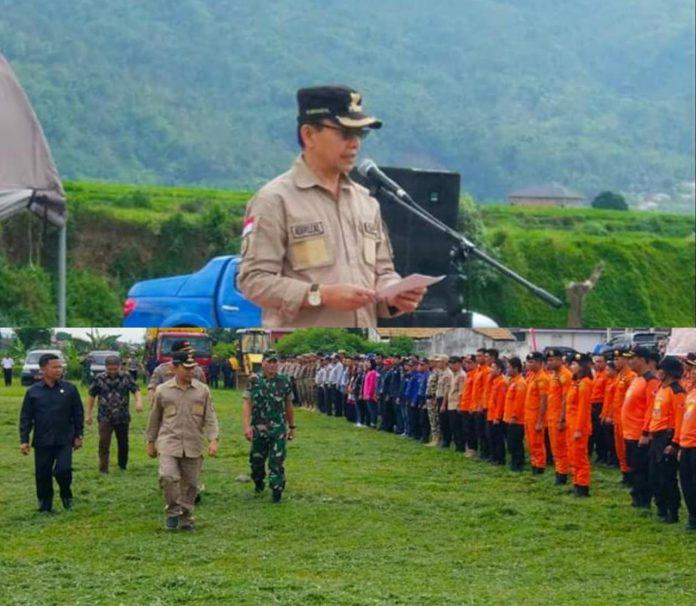 Bupati Kerinci Adirozal Pimpin Apel Siaga Darurat Bencana Kabupaten Kerinci