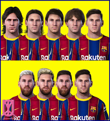 PES 2021 Facepack Lionel Messi by Uqiya