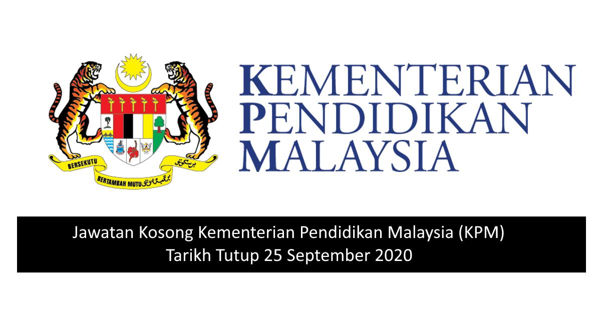 Jawatan Kosong Kementerian Pelajaran Malaysia 2020