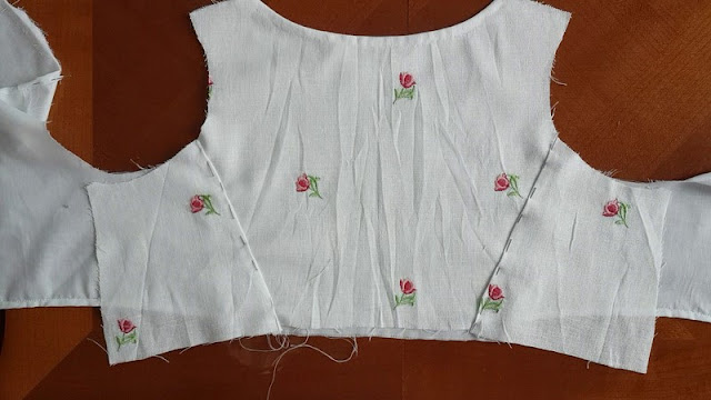 back bodice with the fashion fabric of a regency dress