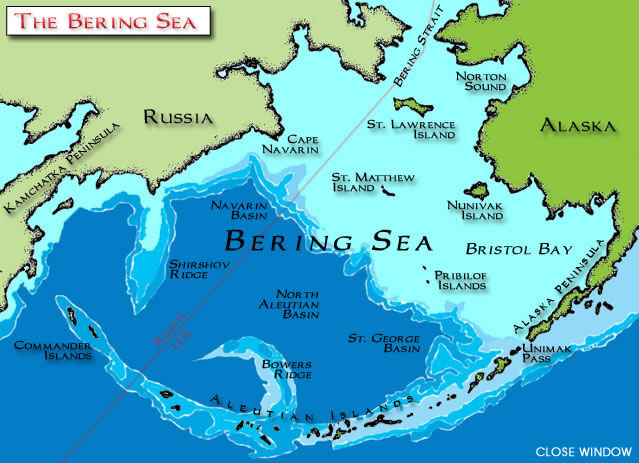 Map Bering Strait Alaska