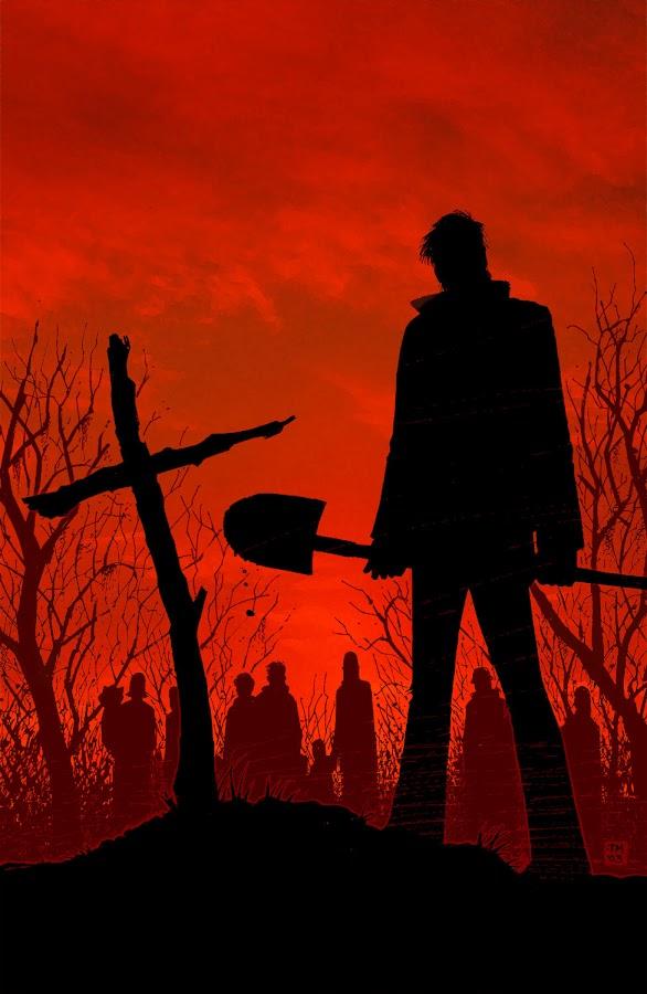 twd shane death tony moore walking dead image comic