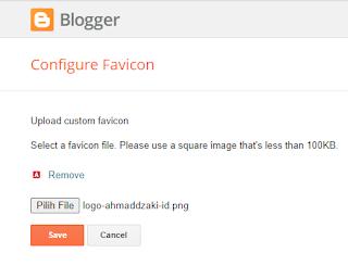 upload favicon ke blogger