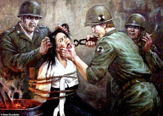 anti christ torturing a woman