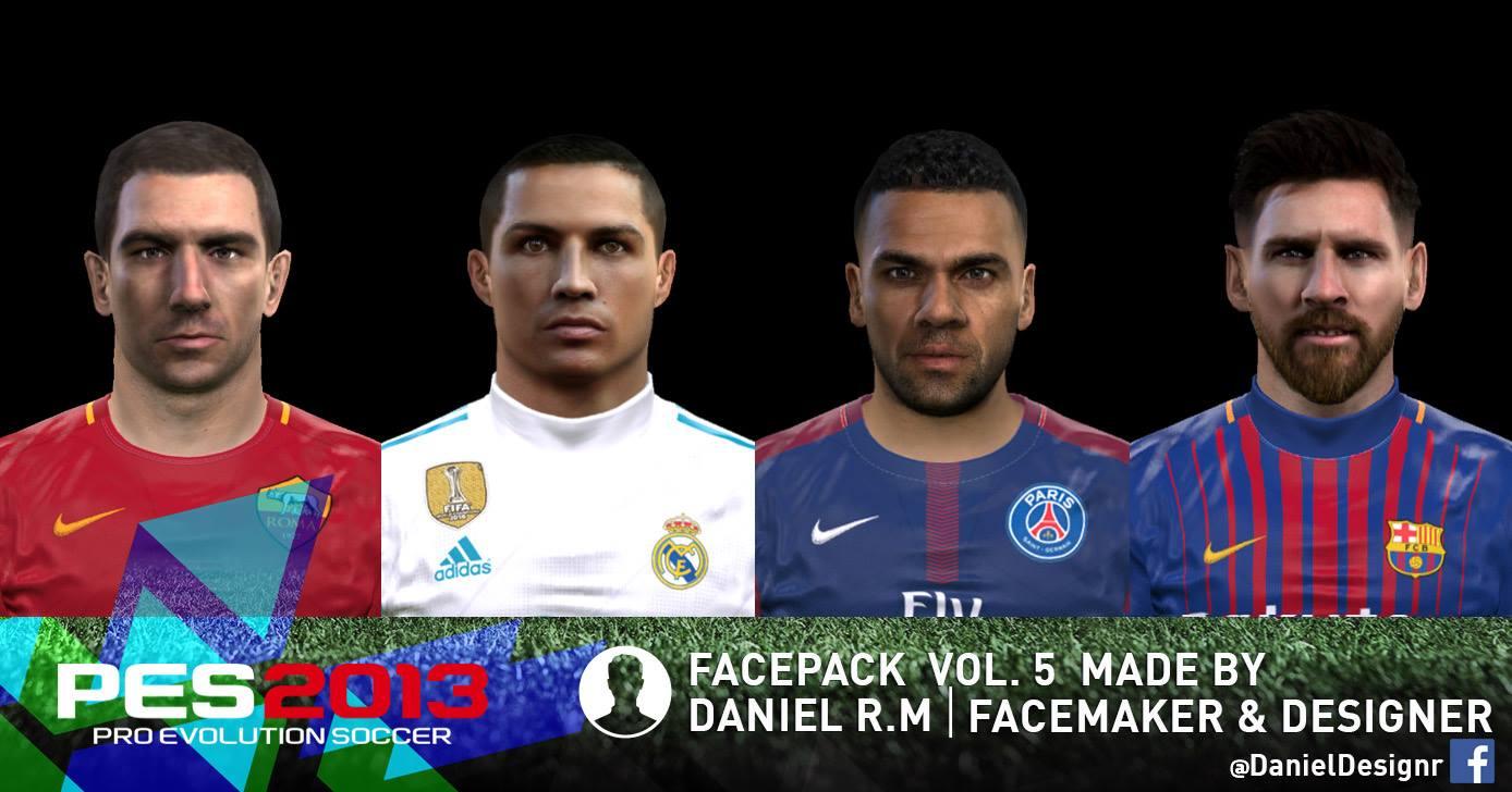 PESMODIF PES FACEPACK VOL MADE BY DANIEL RM - New face hair cristiano ronaldo pes 2013