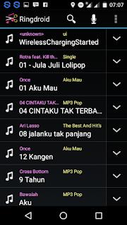 Ringdroid.apk Aplikasi Untuk Menjadikan MP3 Sebagai Default Ringtone