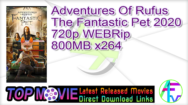 Adventures Of Rufus The Fantastic Pet 2020 720p WEBRip 800MB x264