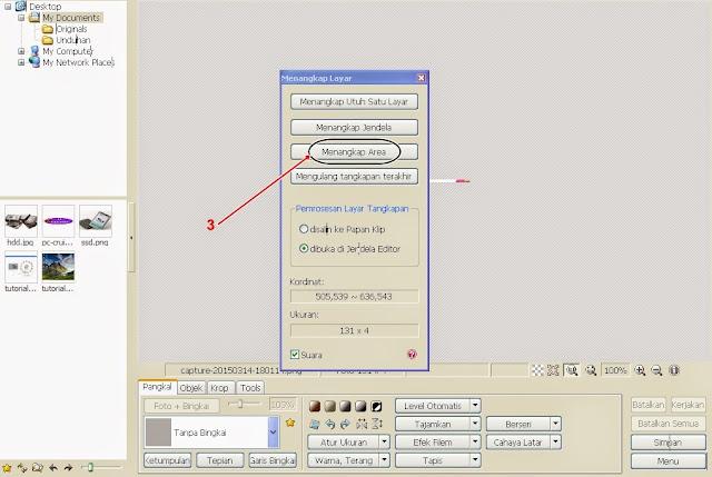 Cara Meng-Capture / Menangkap Gambar Pada Layar menggunakan Software Photoscape