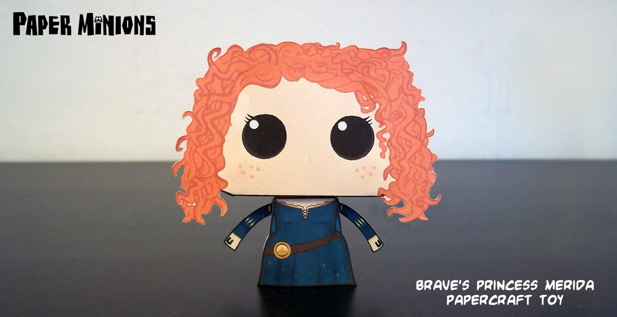 Papercraft Disney Pixars Brave Princess Merida