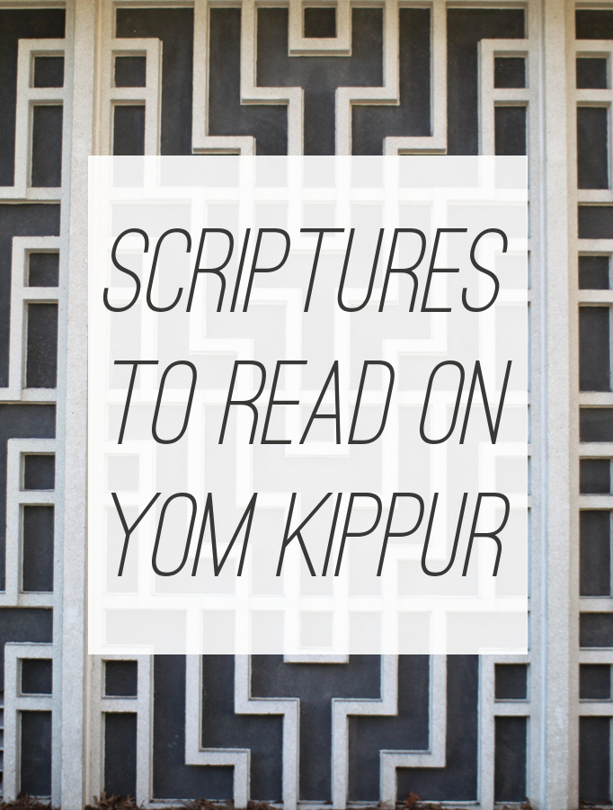 Scriptures to Read on Yom Kippur for Believers in Messiah | Land of Honey