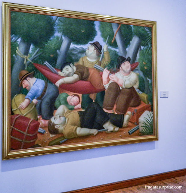 """Fernando Botero: """"A Guerrilha de Elizeo Velásquez"""", Museu Botero, Bogotá"""
