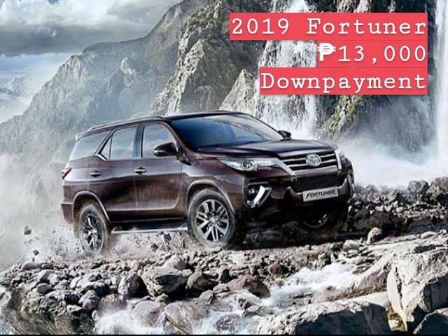 2019 Fortuner 4x2 G A/T DSL - Php 13,000  Downpayment!