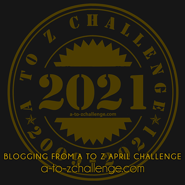 #atozchallenge 2021 badge