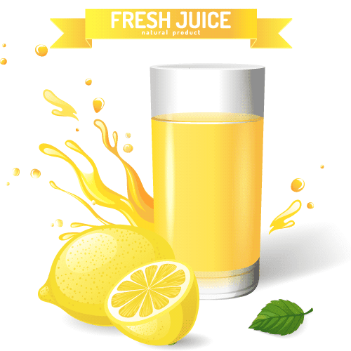 Limonada o zumo de limón - Vector