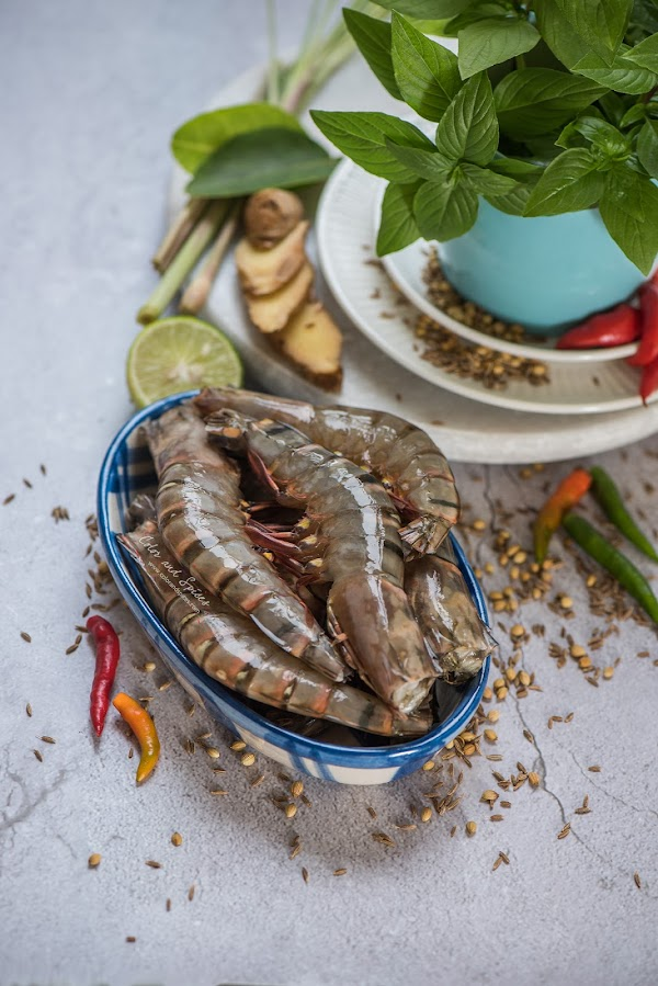 prawns, recipe, food photography
