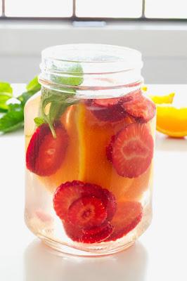 Infusiones de frutas de fresa