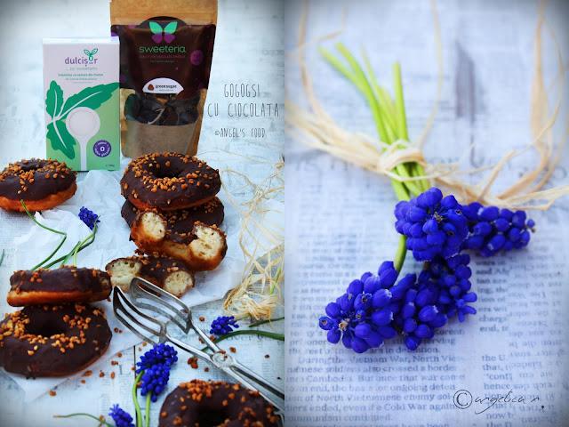 Gogosi indulcite cu Dulcisor, glazurate cu ciocolata Sweeteria ~si un CONCURS  #farazahar