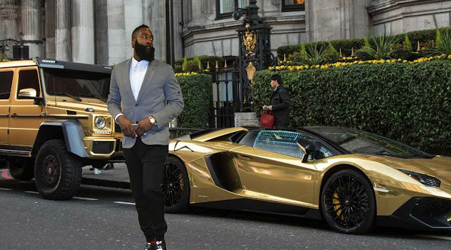 James Harden photo attached with his cars