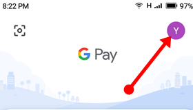 click-on-google-pay-profile-icon