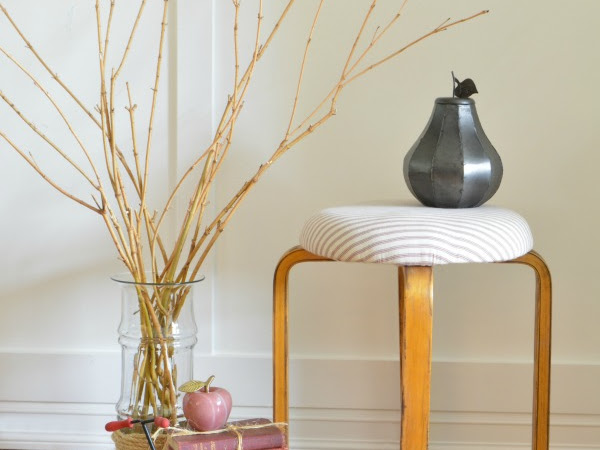 A Quick Farmhouse Style IKEA Bentwood Stool Makeover
