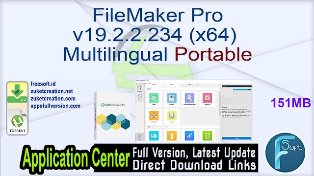 FileMaker Pro v19.2.2.234 (x64) Multilingual Portable