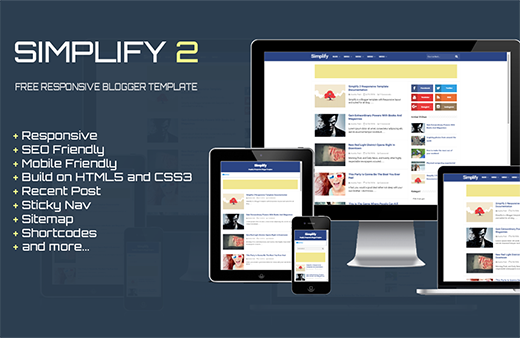 Simplify 2 – SEO Responsive Blogger Template
