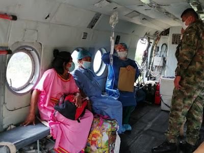 hoyennoticia.com, En helicóptero trasladan a paciente indígena wayuú en delicado estado de salud
