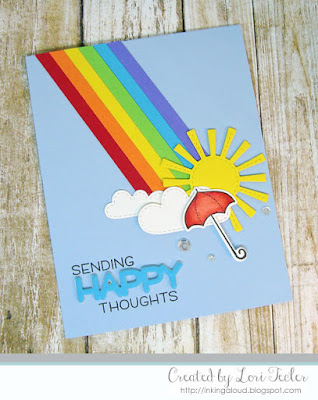 Sending Happy Thoughts card-designed by Lori Tecler/Inking Aloud-stamps and dies from Lawn Fawn