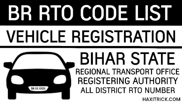 Bihar (BR) Vehicle Registration RTO Codes List